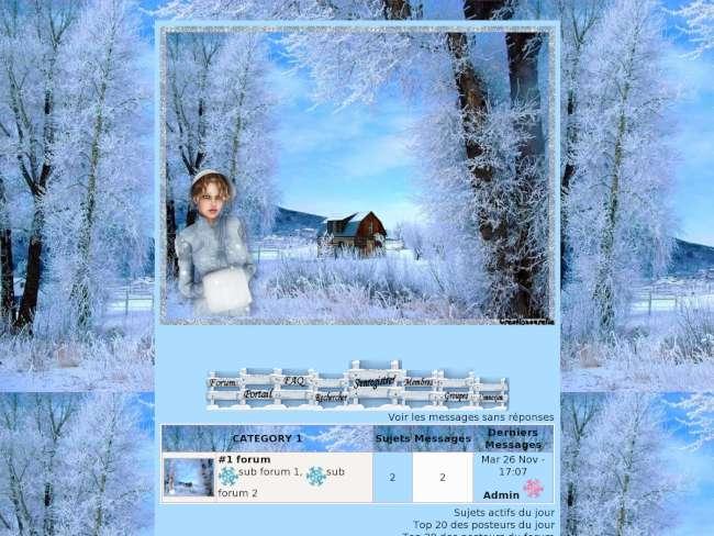 Noel bleu et blanc