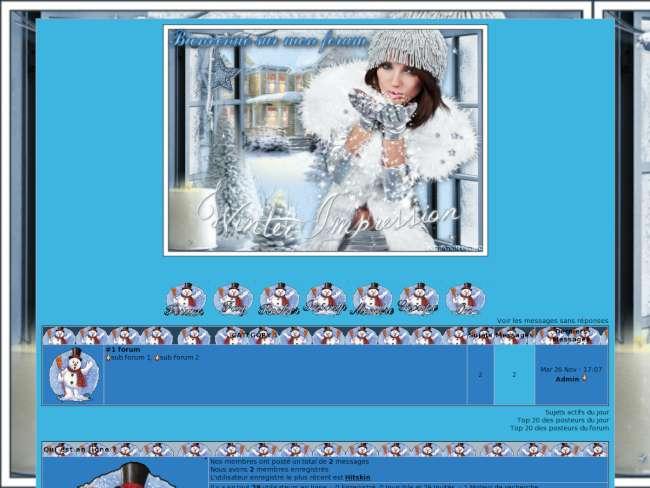 Theme winter impression