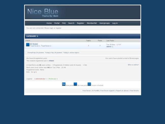 Nice - blue