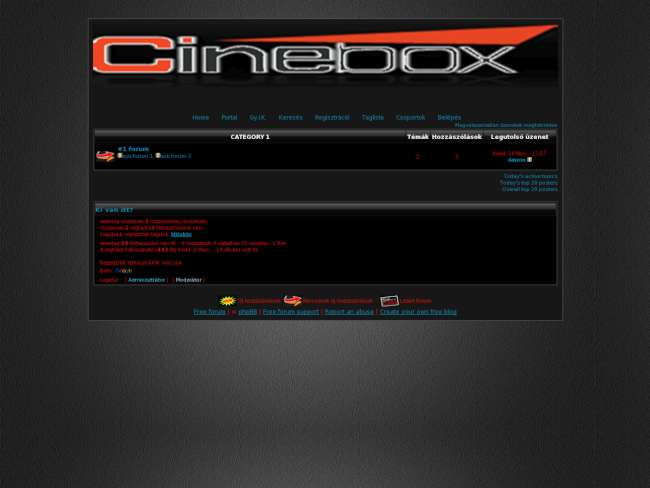 CINEBOX-filmek vilaga