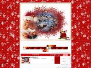 Noel rouge et bébé bla...