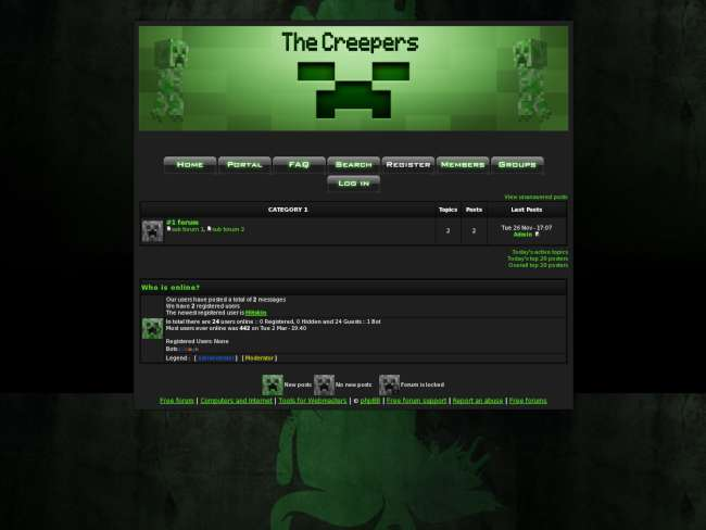 Minecraft The Creepers Skin
