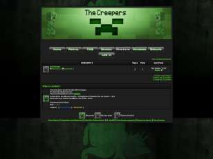 Minecraft the creepers...