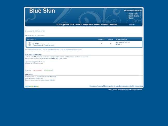 Blue skin theme
