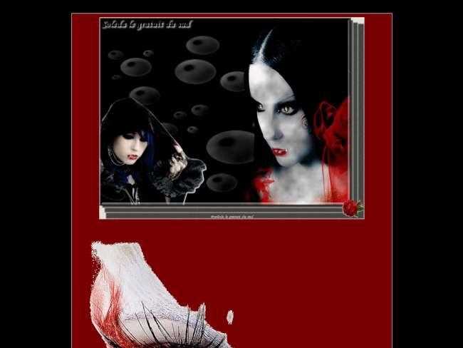 en noir et rouge