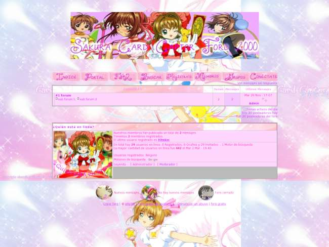 Sakura theme card captor