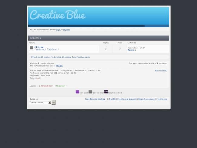 Creative Blue