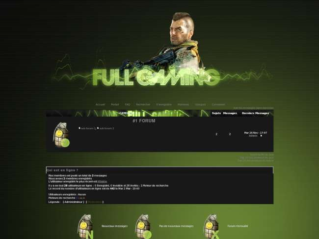 Thème full gaming