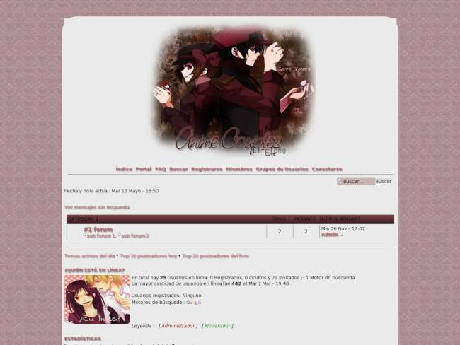 Anime Couples Pink