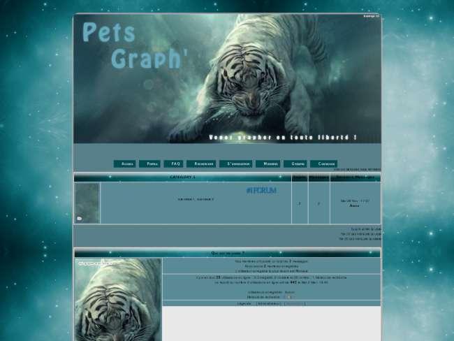 Tigre bleu animal