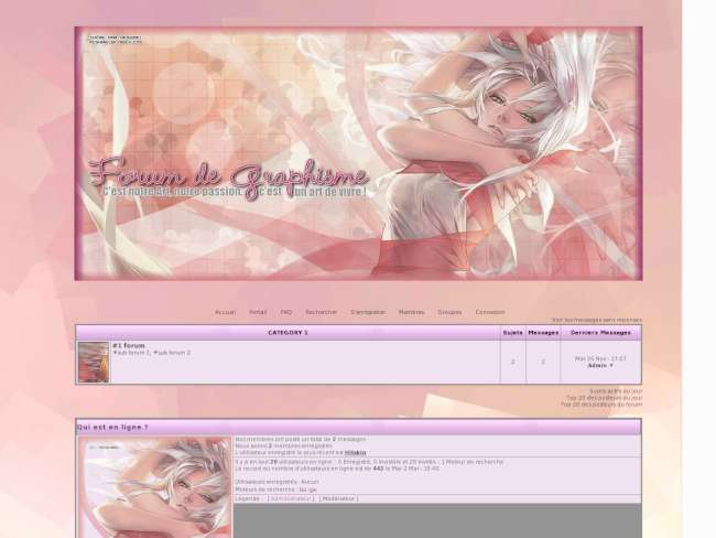 Phpbb2 graphisme rose