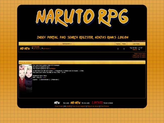 Naruto rpg theme skin 1  Preview