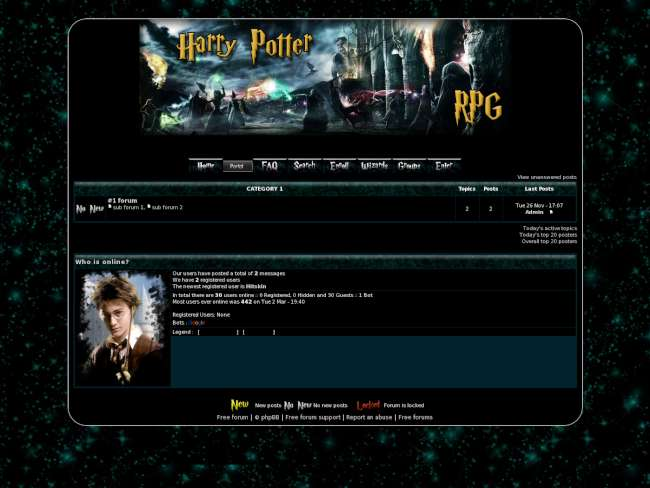 Harry Potter RPG theme skin 1