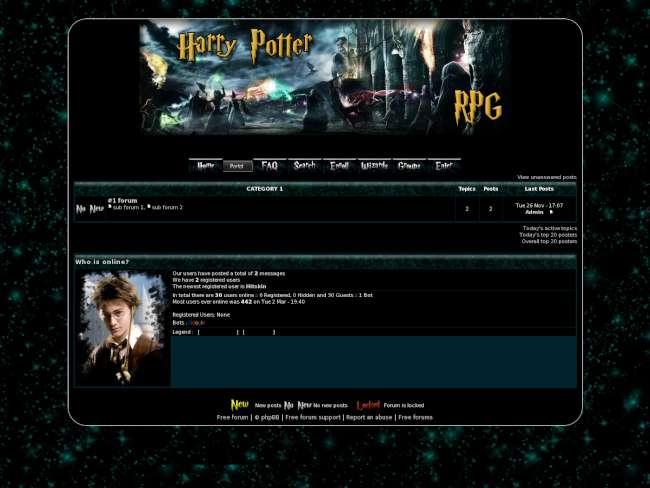 Harry Potter RPG theme skin 1