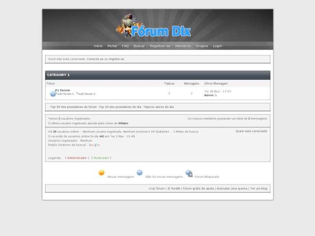 FórumDix Themer v5 preto