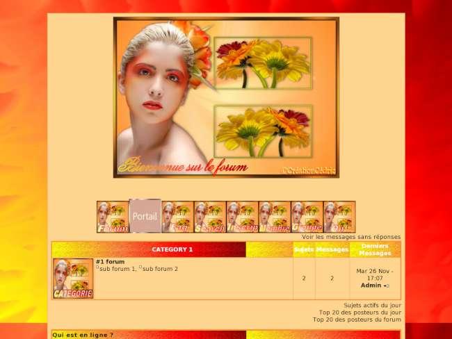 theme lady flower1