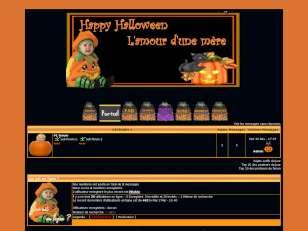 Thème octobre hallowenne