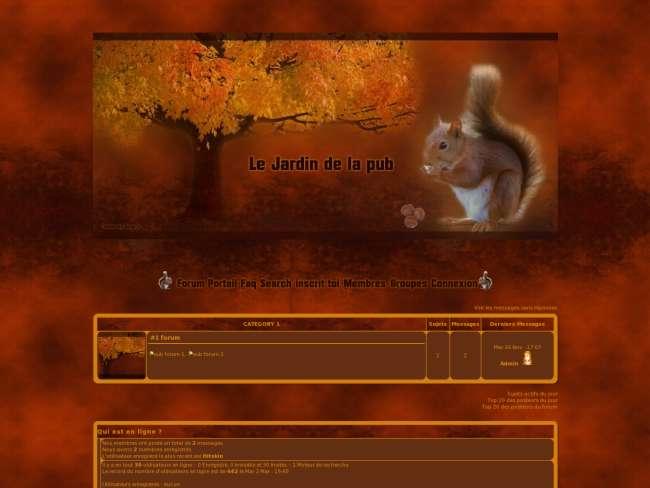 Écureuil d'automne
