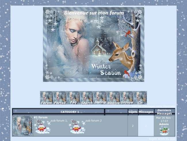 Mon theme winter season