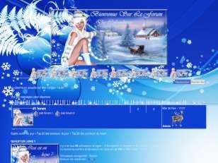 Noël aux couleurs bleu