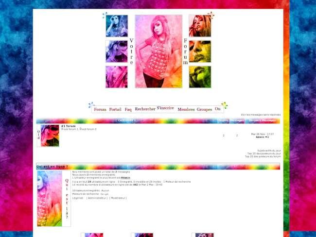 Fille Multicolore