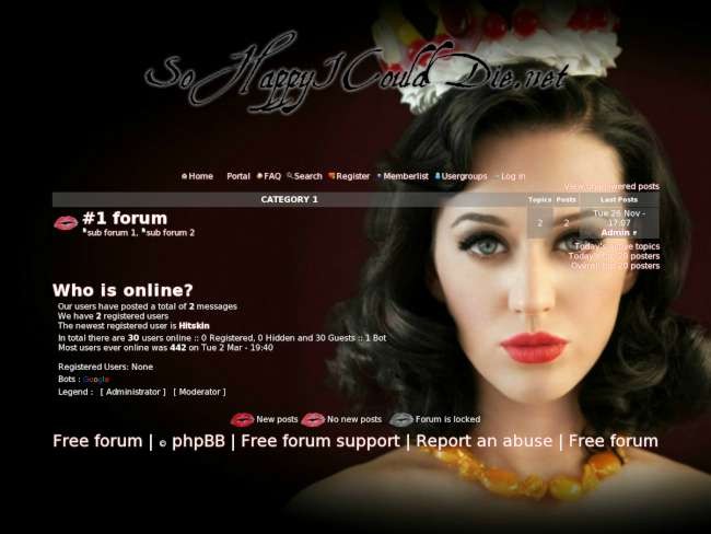 Katy perry forum: theme