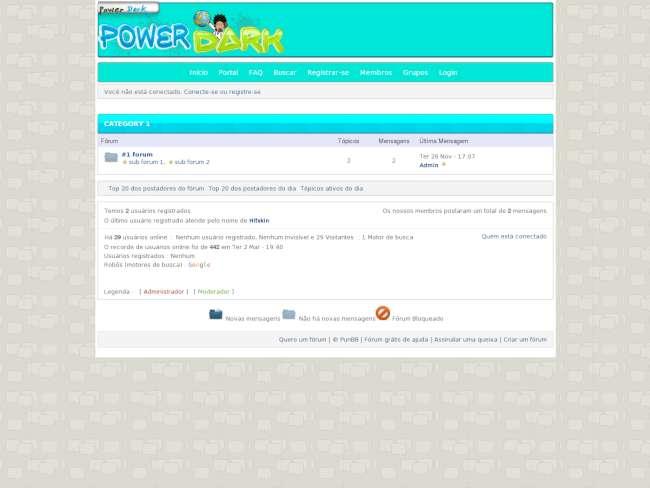 Tema power dark fórum ...
