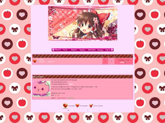 KawaiiRainbow Valentines Day Theme
