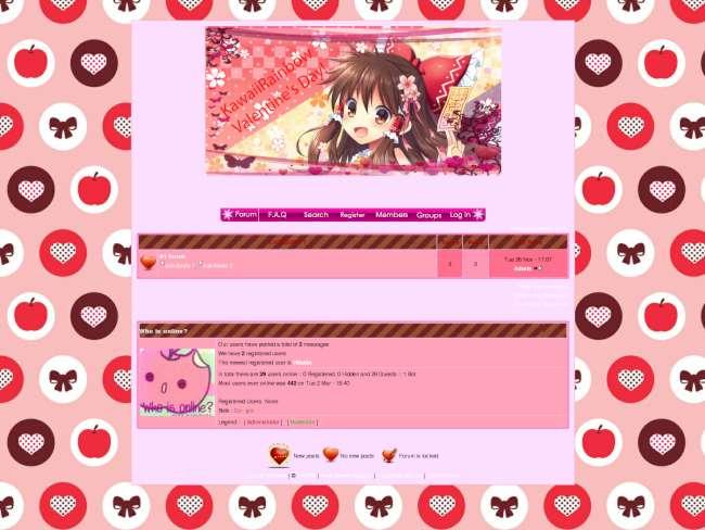 KawaiiRainbow Valentines Day Theme