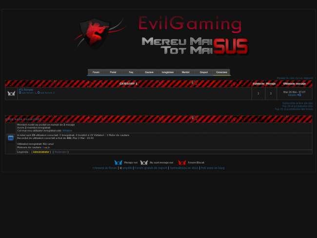 Noua tema EvilGaming