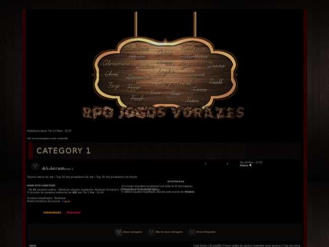 RPG Jogos Vorazes Tema 3