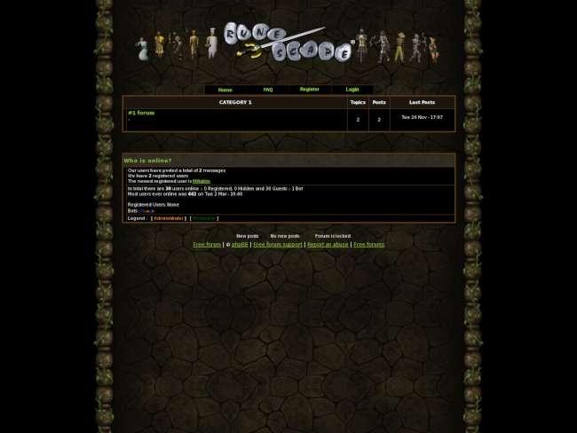 Old-School RuneScape Forums(2006)