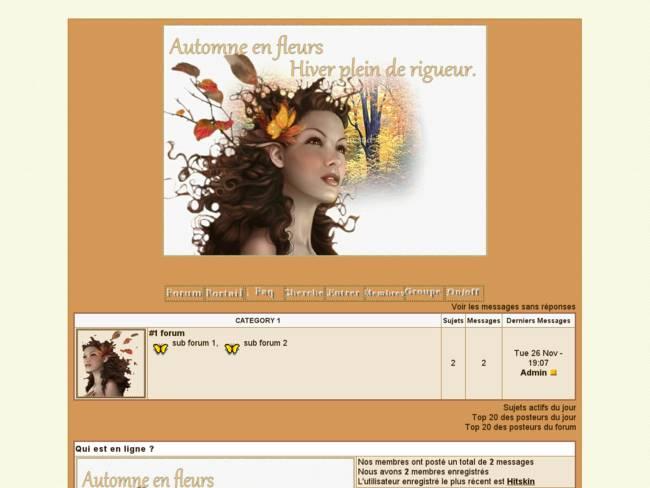 automne en fleur
