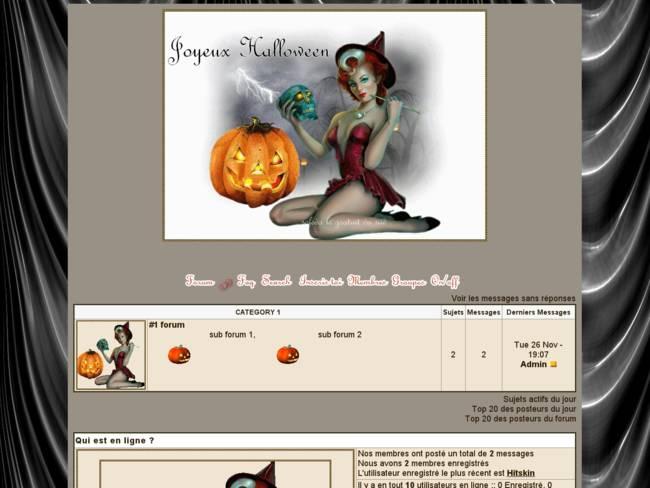 Pour le 31 octobre c'est Halloween