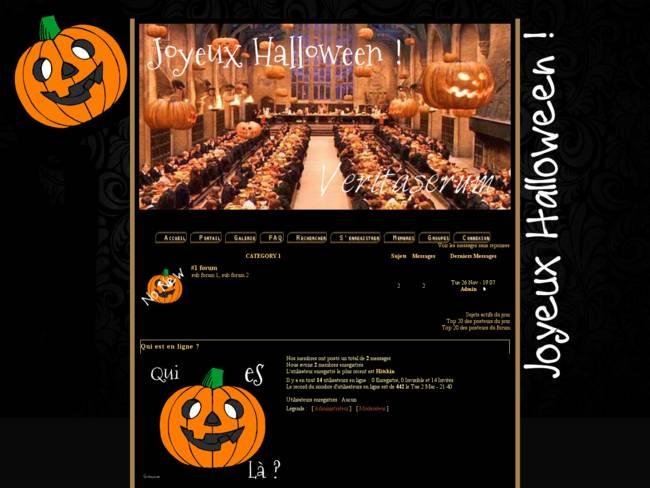 Poudlard Halloween Theme -