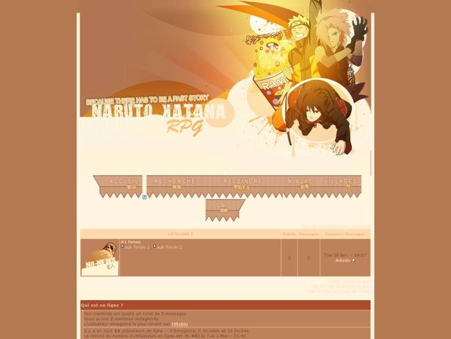 Thème Naruto Katana RPG