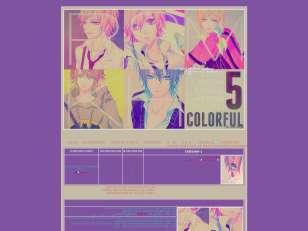 5 boys colorful