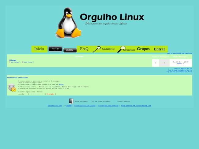 Tema do site: Orgulho Linux. Versão 4.1