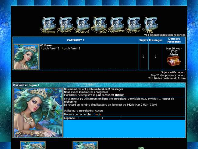 Jolie sirène bleu
