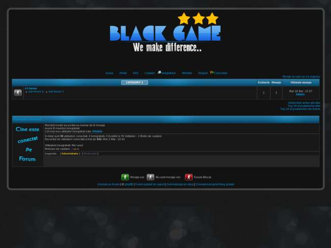 Black game (black)