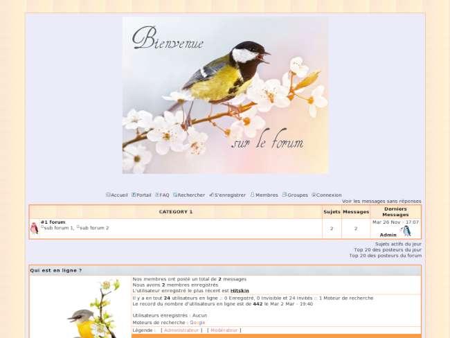 Oiseau printemps