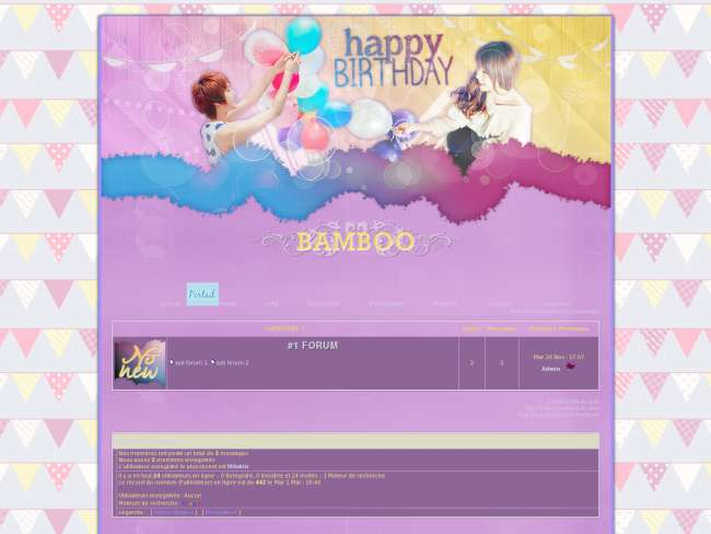 2nd birthday bamboo