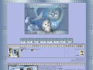 Mon theme chat fond bleu