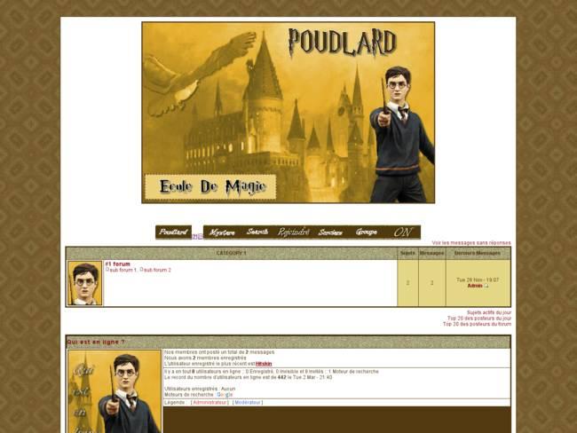 Harry Potter thème Poudlard Virtuel