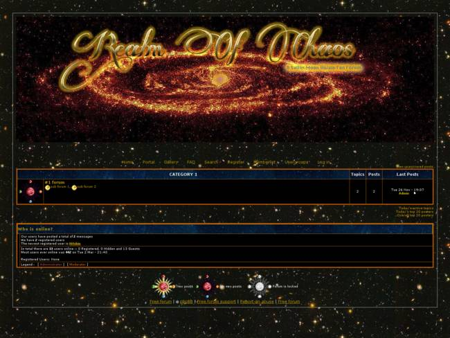 Galaxia in gold
