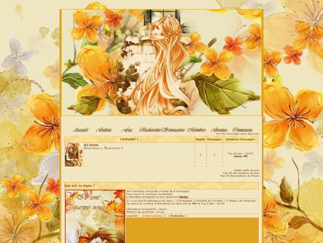 Fleurs et feuilles d'automne .