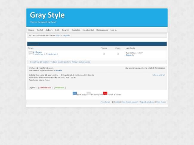 Gray Style