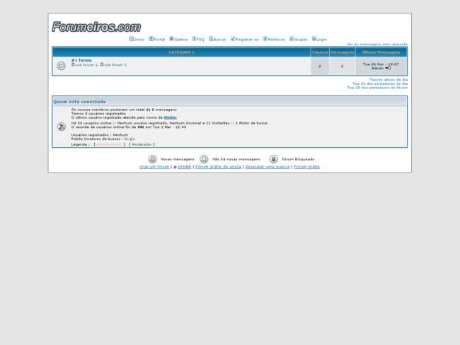phpBB2 Subsilver Português