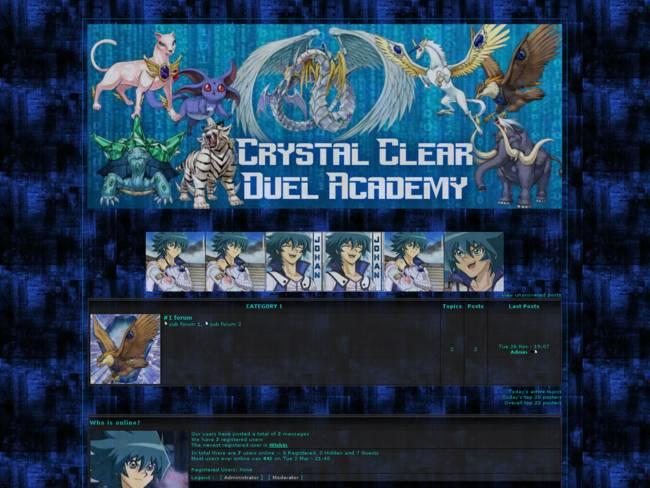 Crystal Clear Duel Academy