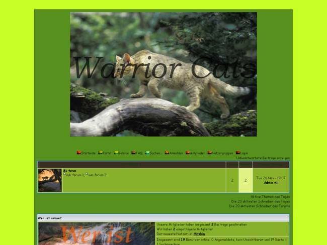 Warrior Cats Forum Grün